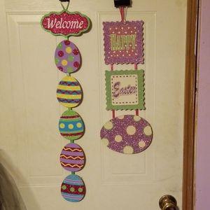 Welcome Easter time door or wall hangers